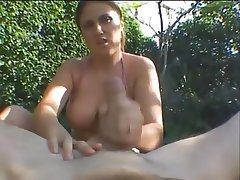 Amateur, Blowjob, Handjob, Outdoor