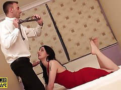 BDSM, British, Cumshot, Foot Fetish