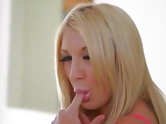 Blonde, Cum in mouth