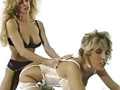 Lesbian, Lingerie, Pantyhose, Strapon