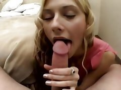 Blonde, Cum in mouth, POV