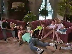 Blonde, Brunette, Cumshot, Group Sex, Vintage