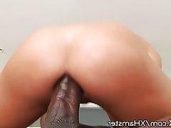 Blowjob, Brunette, Cumshot, Interracial, Small Tits