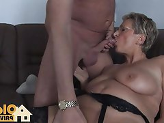 Big Boobs, Blonde, Blowjob, Cumshot, German