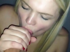 Amateur, Blonde, POV, Blowjob, Swallow
