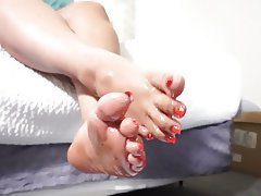 Amateur, BBW, Foot Fetish, Footjob