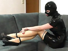 Dildo, High Heels, Latex, Piercing, Stockings