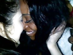 Amateur, Lesbian, Bisexual, Interracial, Kissing