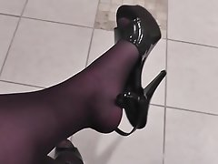 Anal, Blowjob, Cuckold, High Heels, Pantyhose