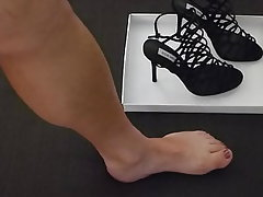 Foot Fetish, Pantyhose, High Heels, Homemade