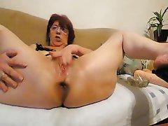 Granny, Amateur, Anal, Mature, Webcam