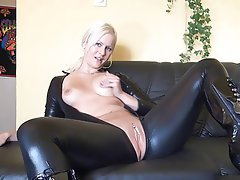 Amateur, Blonde, Latex, Masturbation