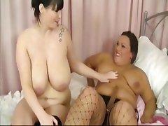 BBW, Big Boobs, Lesbian, Mature, Strapon