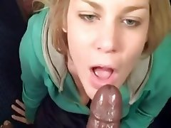 Amateur, Blowjob, Cumshot, Interracial, POV