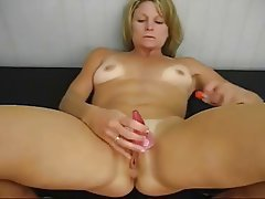 Amateur, Blonde, Masturbation, MILF