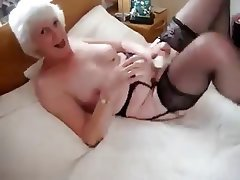 Amateur, Granny, Masturbation, Stockings
