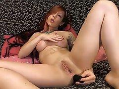Anal, Masturbation, Redhead, Webcam