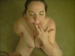 BBW, Big Boobs, Blowjob, Brunette