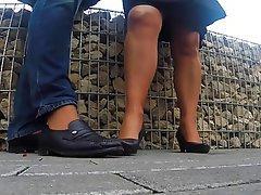 Foot Fetish, MILF, Pantyhose, POV