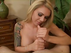 Cumshot, Handjob, Masturbation, POV, Tattoo