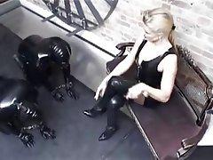 BDSM, Femdom, Foot Fetish, German, Latex
