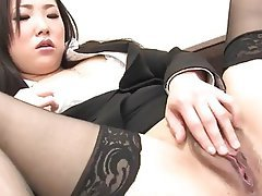 Asian, Japanese, Masturbation, Stockings