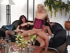 Amateur, Blonde, Brunette, Threesome